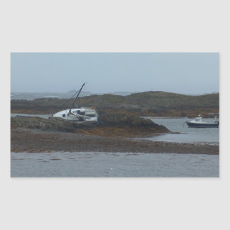 Ship wrecked rectangular sticker
