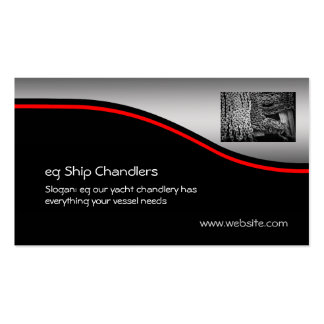 Ship / Yacht Chandlers Anchor Chain, red swoosh Business Card