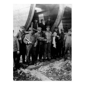Shipbuilders in Marine City Michigan Vintage Postcard