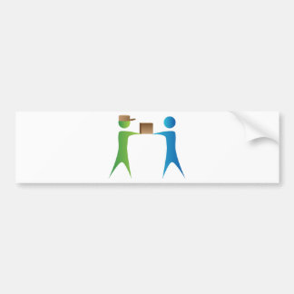 Shipping Box Delivery Stick Figure People Bumper Sticker