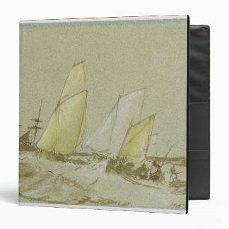 Shipping, c.1828-30 (pen, brush & brown ink, bodyc 3 ring binder