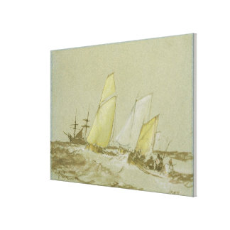 Shipping, c.1828-30 (pen, brush & brown ink, bodyc canvas print