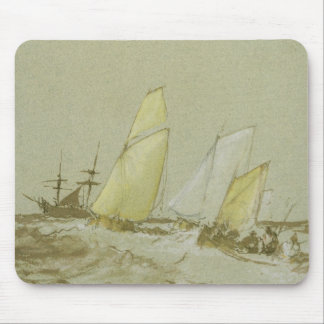 Shipping, c.1828-30 (pen, brush & brown ink, bodyc mouse pad