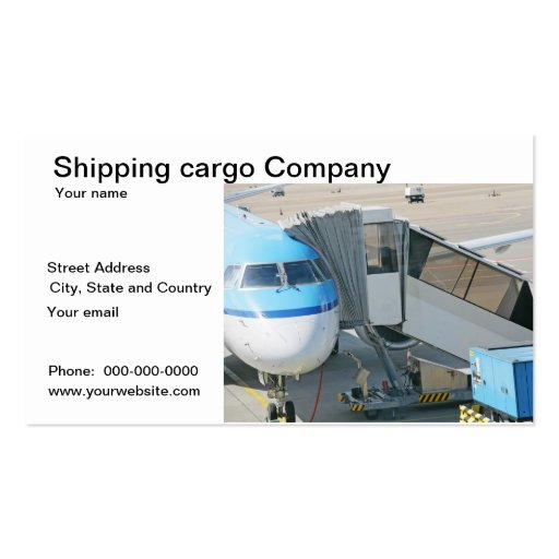 Shipping cargo delivery business card
