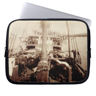 Shipping Cattle on the W G Hall Hawaii 1890s Laptop Sleeve