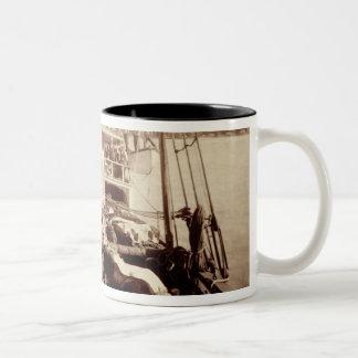 Shipping Cattle on the 'W.G. Hall', Hawaii, 1890s Two-Tone Coffee Mug