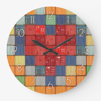 Shipping Container Heart Large Clock
