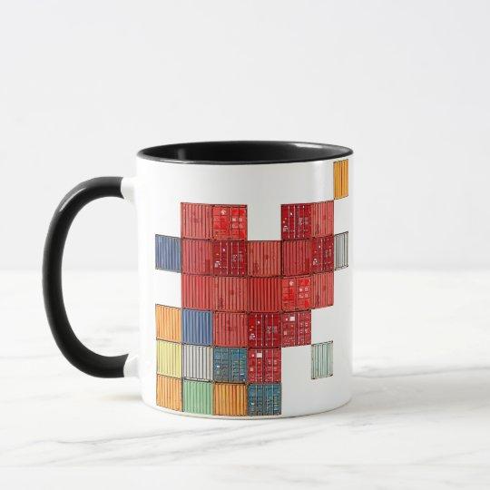 Shipping Container Heart Mug