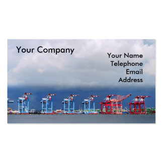 Shipping Cranes and Containers Double-Sided Standard Business Cards (Pack Of 100)