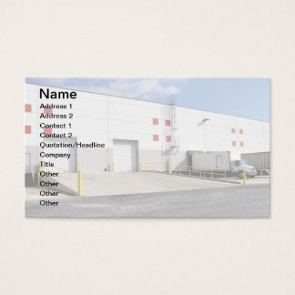 shipping docks by a warehouse business card