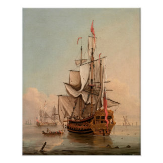 Shipping in a Calm   Peter Monamy Poster