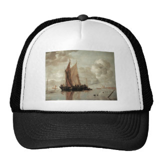 Shipping in Calm Waters of an Estuary Trucker Hats