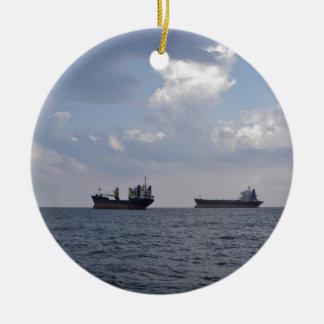 Shipping In The Black Sea Ceramic Ornament