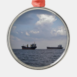 Shipping In The Black Sea Metal Ornament