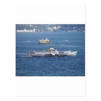 Shipping In The Bosporus Postcard