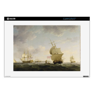 Shipping in the English Channel, c.1755 (oil on ca Decals For Laptops