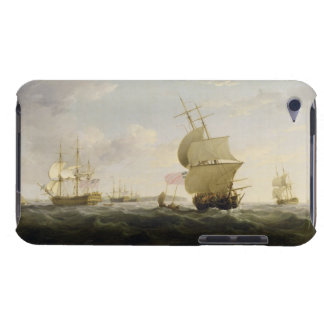 Shipping in the English Channel, c.1755 (oil on ca iPod Touch Case-Mate Case