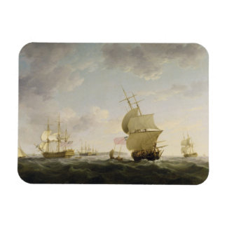 Shipping in the English Channel, c.1755 (oil on ca Rectangular Photo Magnet