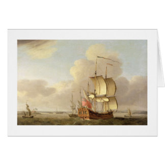 Shipping in the Thames Estuary, c.1761-66 (oil on Card