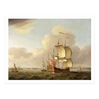 Shipping in the Thames Estuary, c.1761-66 (oil on Postcard