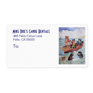 Shipping Label for Canoe Rentals /Veterinarian