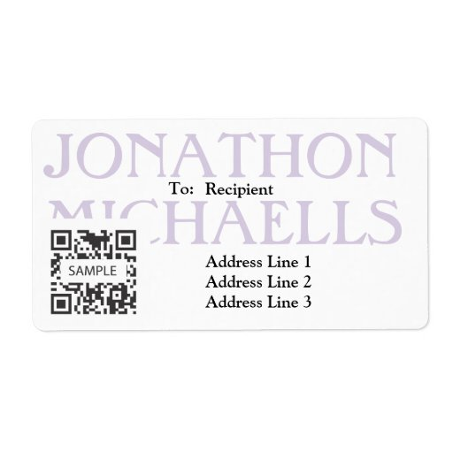 Shipping Label Template Retail Men's Clothing