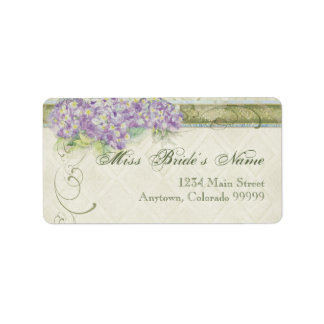 Shipping Labels - Vintage Style Lilac Hydrangea