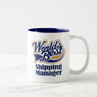 Shipping Manager Gift Two-Tone Coffee Mug