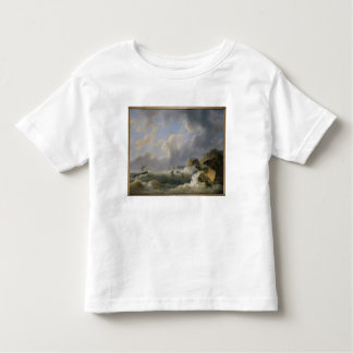 Shipping off a Coastline in a Rough Sea (oil on ca Toddler T-shirt