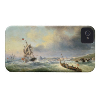 Shipping off the Spanish Coast, 1845 iPhone 4 Case-Mate Cases