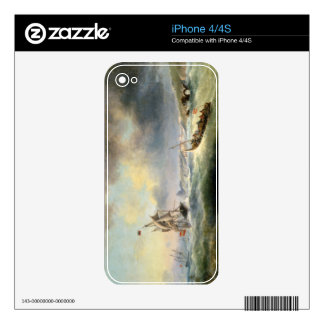 Shipping off the Spanish Coast, 1845 Skin For The iPhone 4S