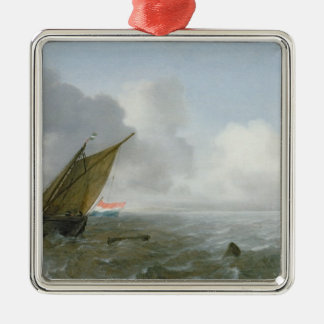 Shipping Offshore in a breeze, 17th century Metal Ornament