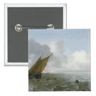 Shipping Offshore in a breeze, 17th century Pinback Button