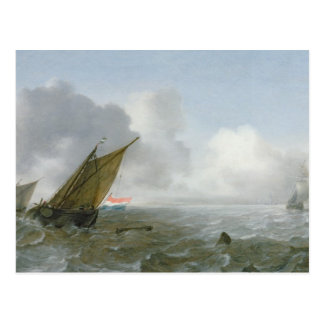 Shipping Offshore in a breeze, 17th century Postcards