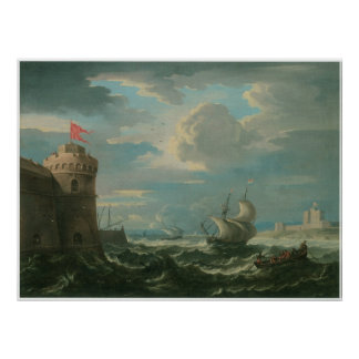 Shipping on a Stiff Breeze, Pieter Mulier Poster