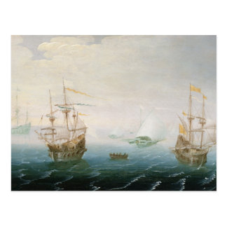 Shipping on Stormy Seas Postcard