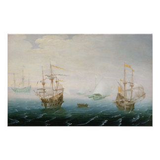 Shipping on Stormy Seas Poster