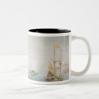 Shipping on Stormy Seas Two-Tone Coffee Mug