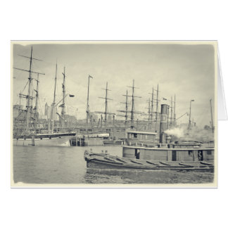 Shipping on the East River Card