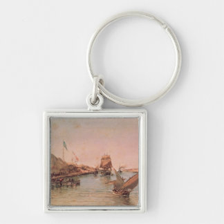Shipping on the Suez Canal Keychain