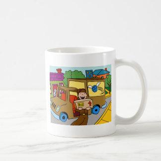 Shipping Service Cartoon Basic White Mug