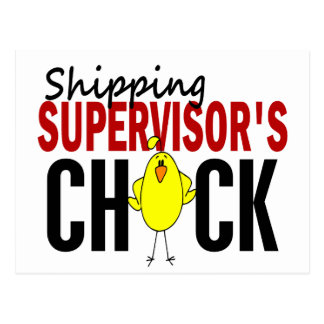 Shipping Supervisor's Chick Postcard