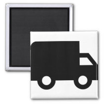 Shipping Truck Magnet