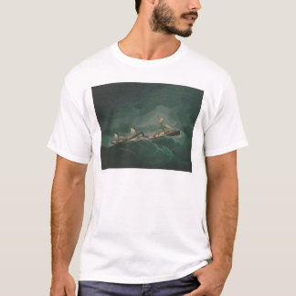 Shipping Vessel...in Storm  (1261) T-Shirt