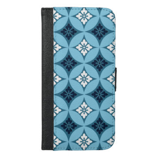 Shippo with Flower Motif, Blue and White iPhone 6/6s Plus Wallet Case