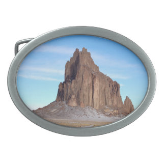Shiprock Mountain, New Mexico Oval Belt Buckle