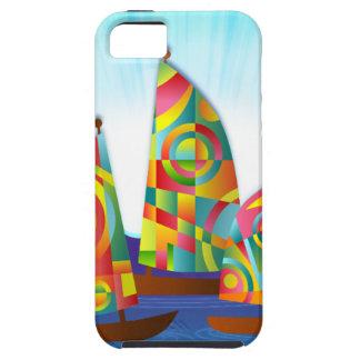 ships-162075 ships sailing colorful sails cartoon iPhone 5 case