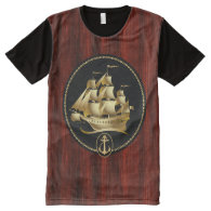 Ships 3 Options All-Over Print T-shirt