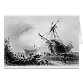 Ships Aground Greeting Card