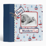 Ships Ahoy! 1.5 in Baby Album Vinyl Binder